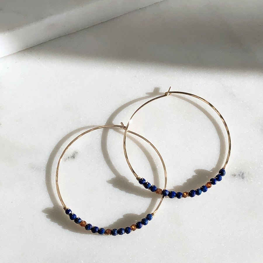 Beaded Hoops - Token Jewelry Designs