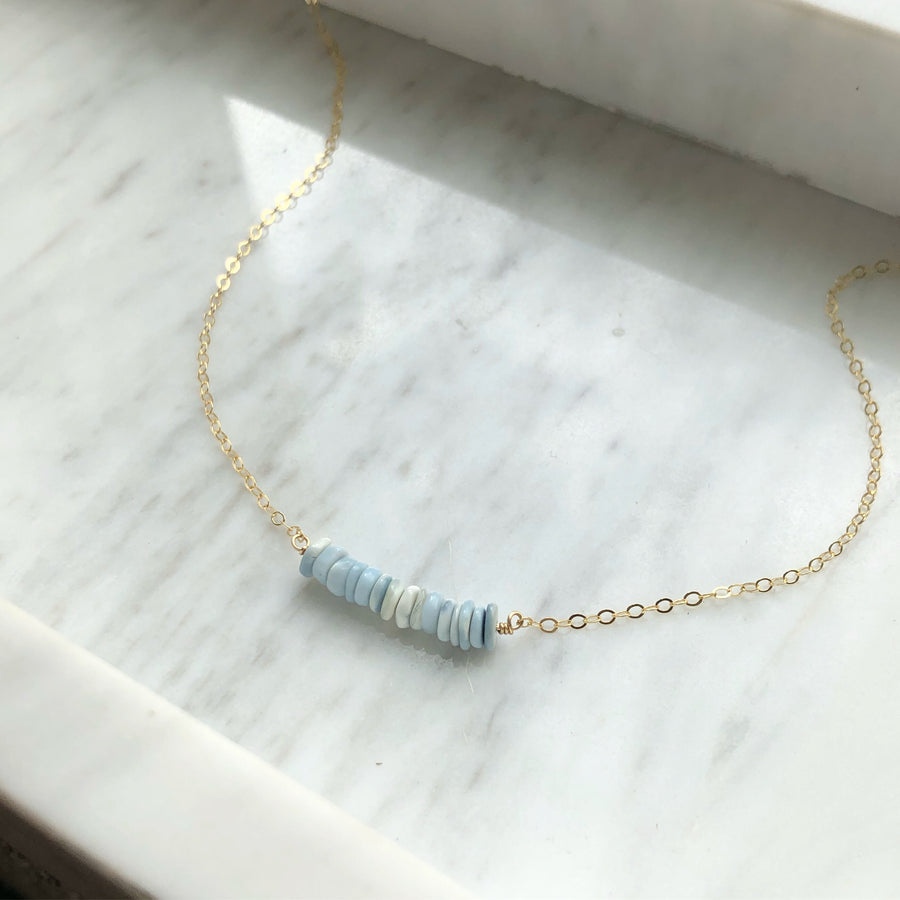 Blue Opal Necklace - Token Jewelry Designs
