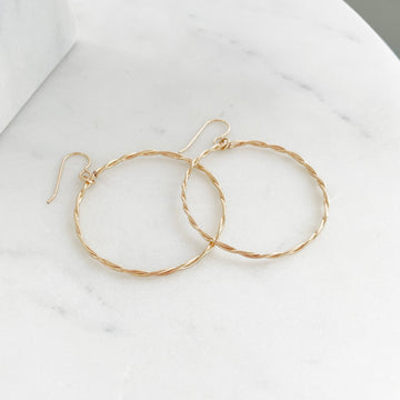Braided Hoops - Token Jewelry