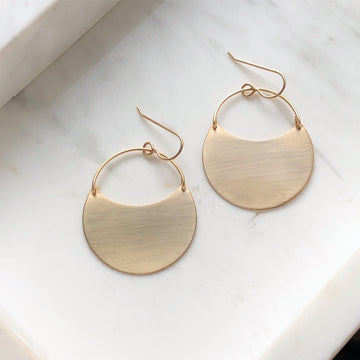 Theia Earrings // Brushed Finish - Token Jewelry