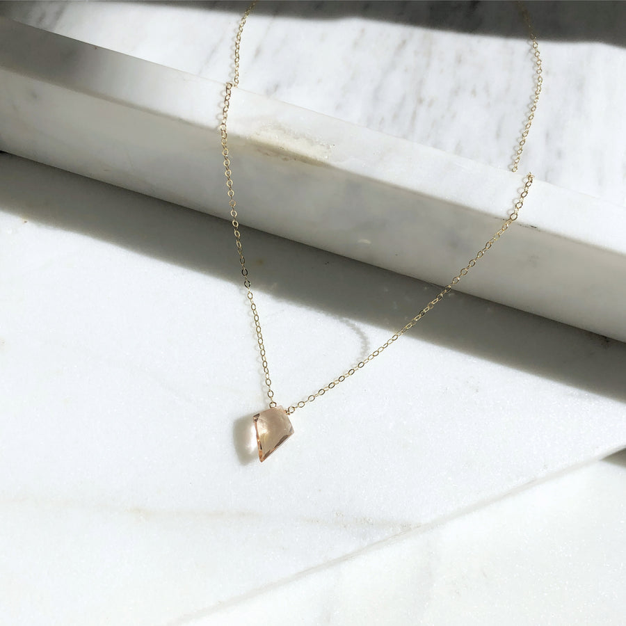 Champagne Quartz Necklace - Token Jewelry Designs