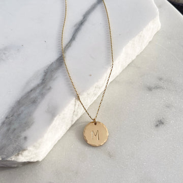 Coin Necklace with Monogram