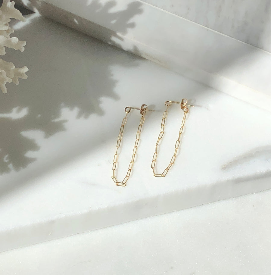 Cosette Chain Studs - Token Jewelry