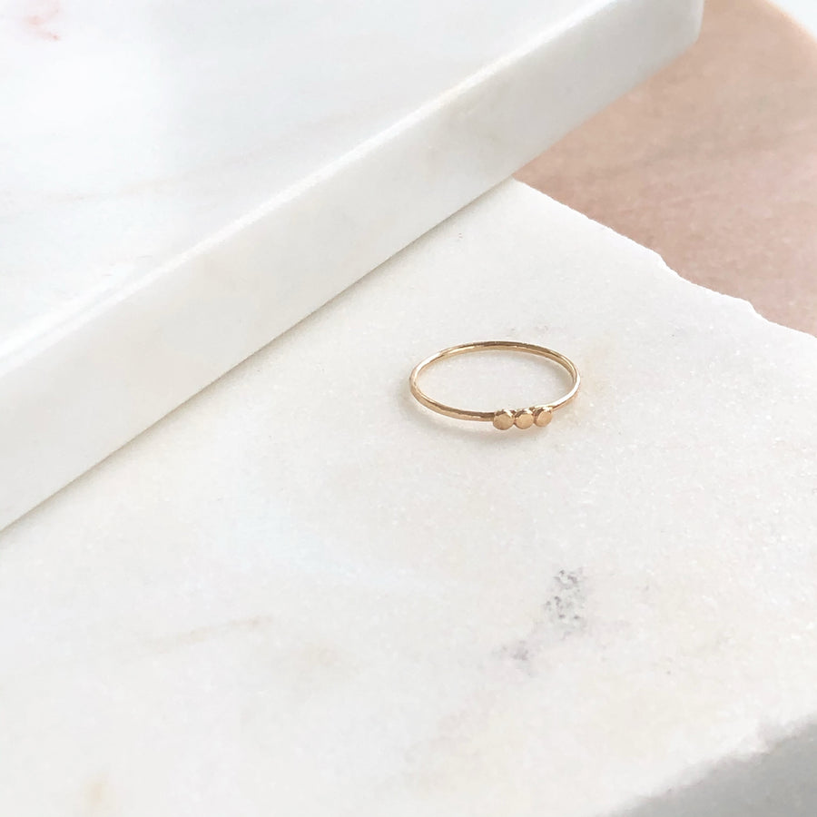 Ellipsis Ring - Token Jewelry Designs