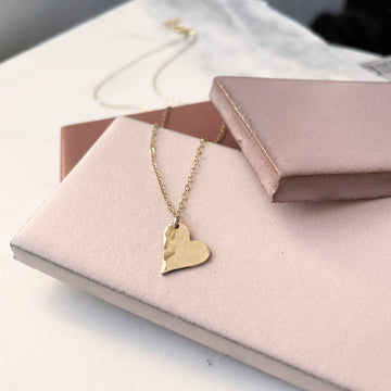 Heart Drop Necklace - Token Jewelry