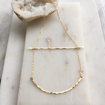 Bent Ladder Necklace - Token Jewelry Designs