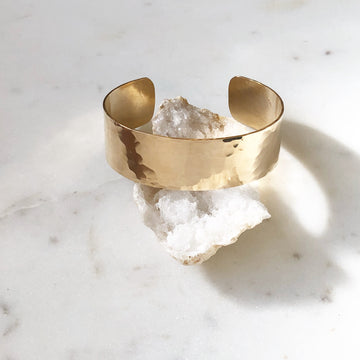 Hammered Cuff - Token Jewelry Designs