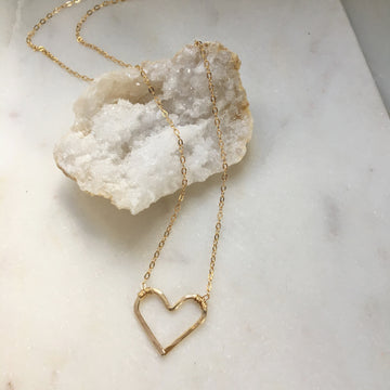 Open Heart Necklace - Token Jewelry Designs