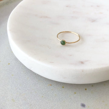 Jade Ring / 4MM - Token Jewelry Designs