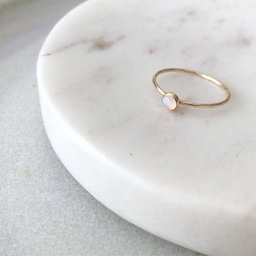 Moonstone Ring / 4mm - Token Jewelry Designs