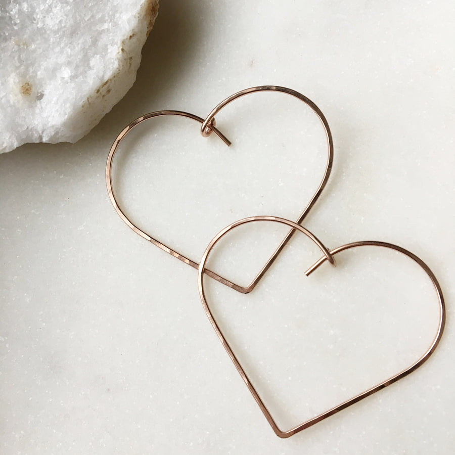 Heart Hoops - Token Jewelry Designs