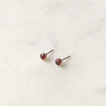 Red Garnet Studs / Final Sale - Token Jewelry Designs