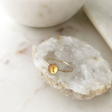 Citrine Ring - Token Jewelry Designs