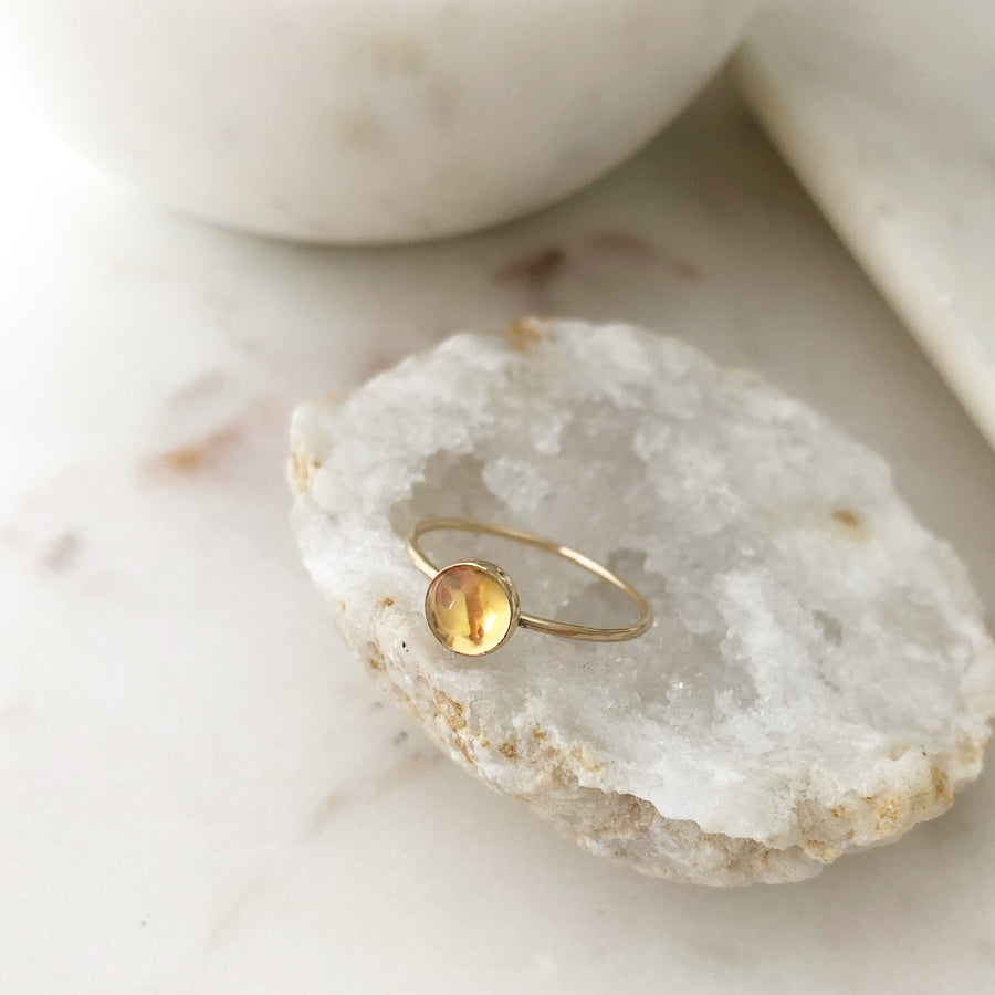 Citrine Ring / Final Sale - Token Jewelry Designs
