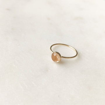 Copper Rutilated Quartz Ring - Token Jewelry Designs