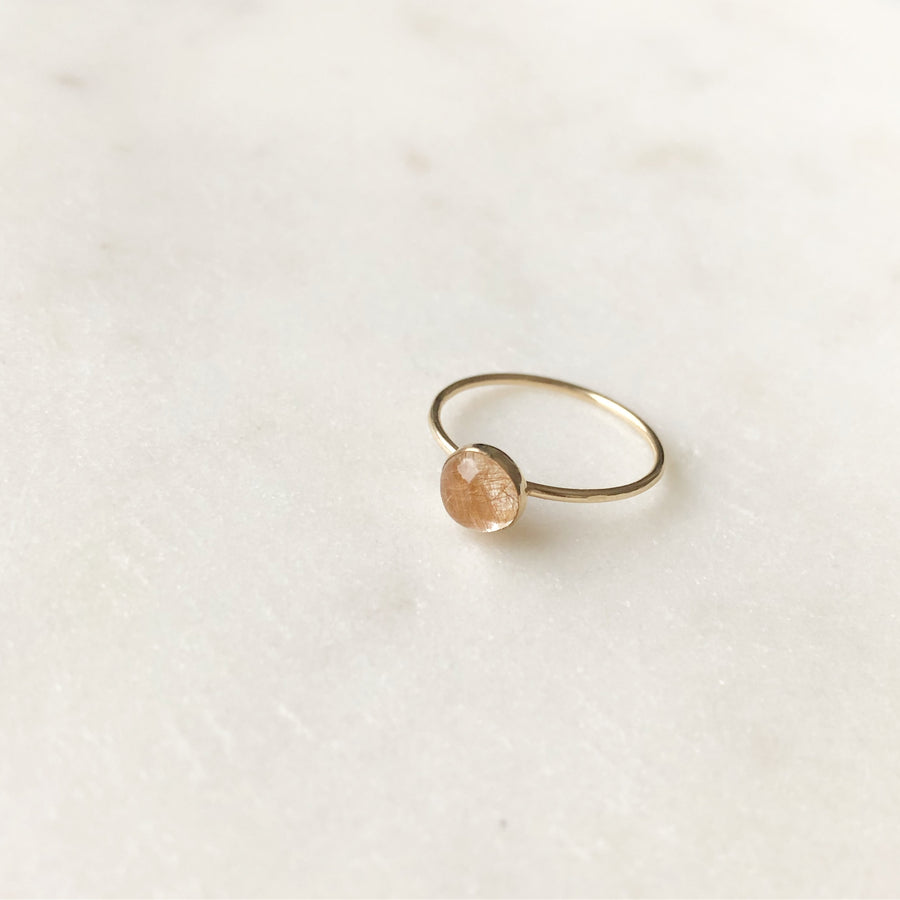 Copper Rutilated Quartz Ring