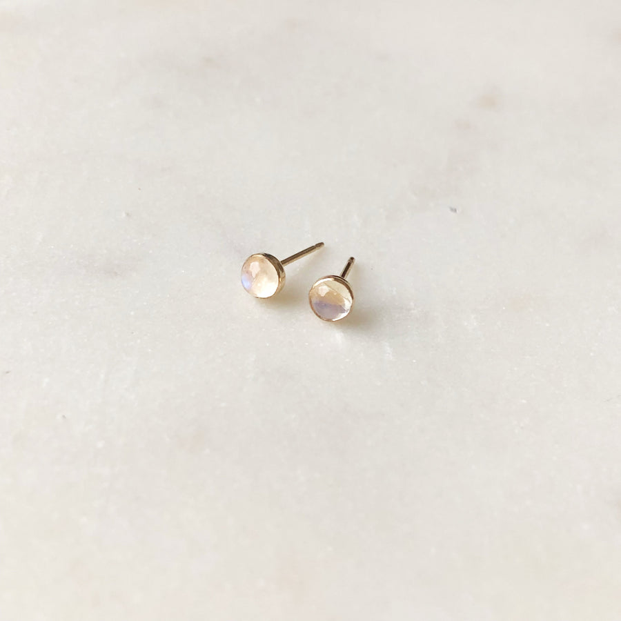 Moonstone Studs - Token Jewelry Designs