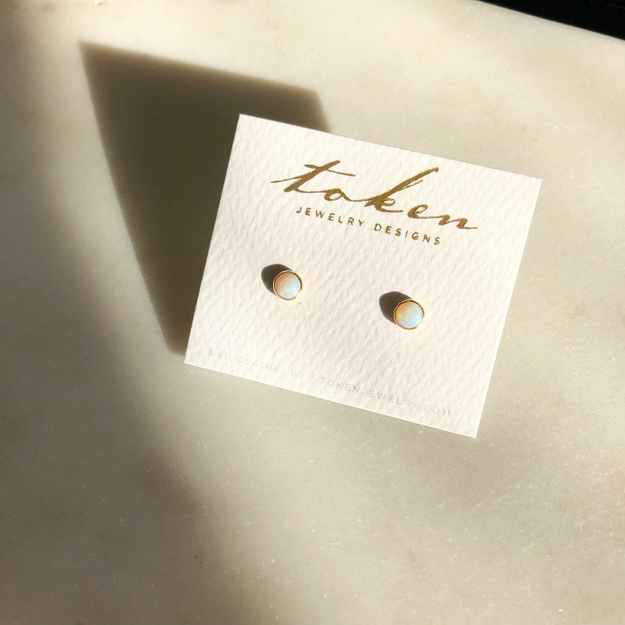 Opal Studs - Token Jewelry Designs