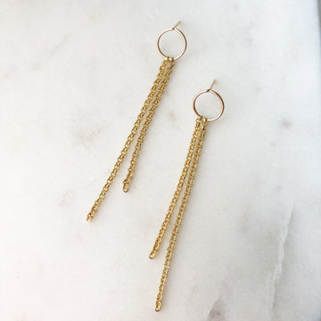 Waterfall Earrings - Token Jewelry Designs