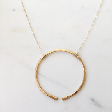 Open Circle Necklace - Token Jewelry