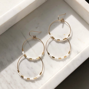Octavia Hoops - Token Jewelry