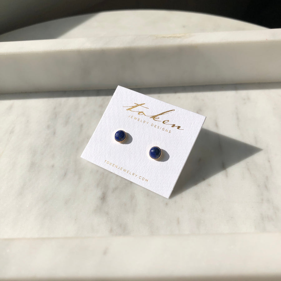 Lapis Studs - Token Jewelry Designs