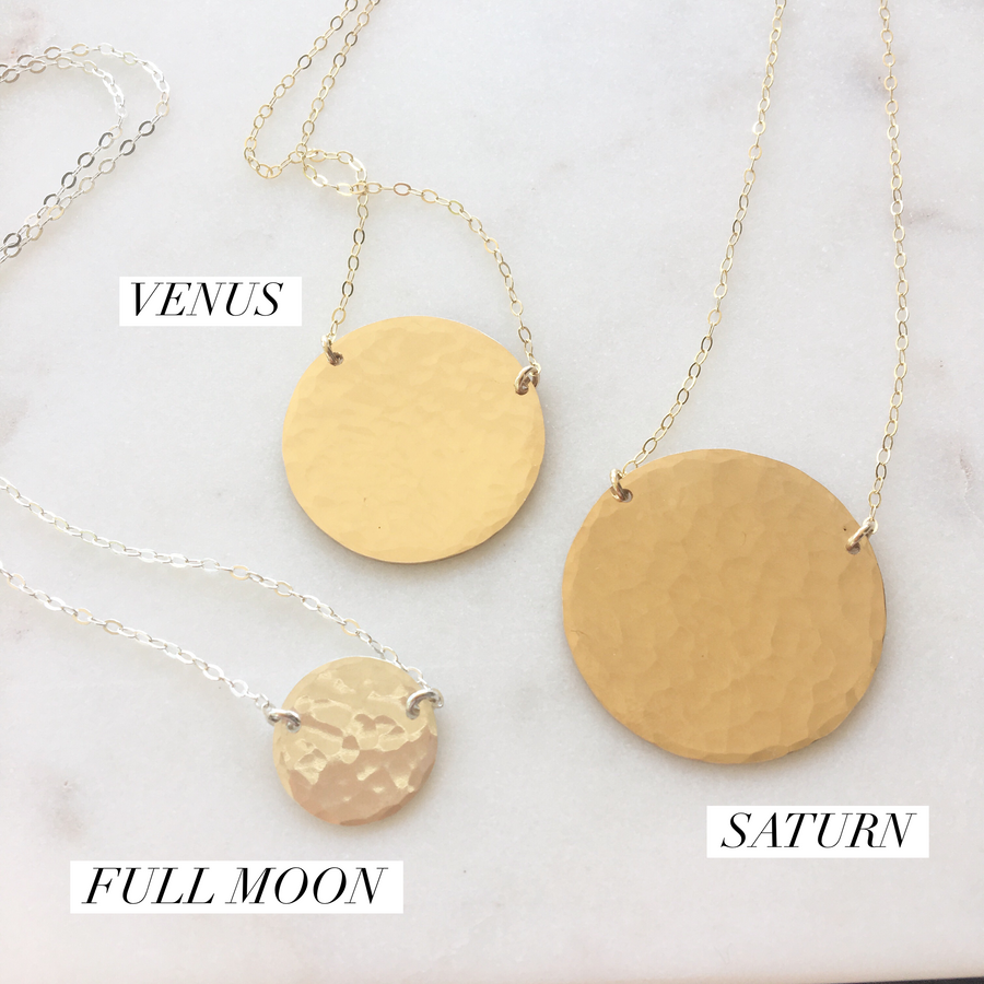 Full Moon Necklace - Token Jewelry Designs
