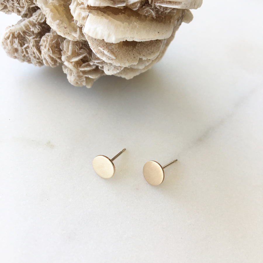 Circle Studs - Token Jewelry Designs