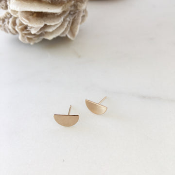 Half Circle Studs - Token Jewelry Designs