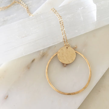 Sun + Moon Necklace - Token Jewelry Designs