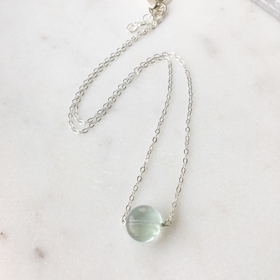 Fluorite Necklace / Final Sale - Token Jewelry Designs