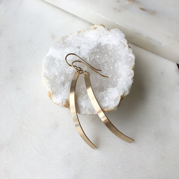 Modern Metal Earrings - Token Jewelry Designs