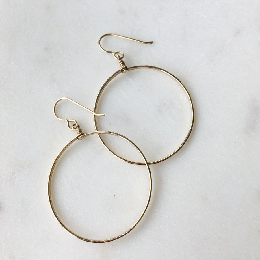 Petite Circle Hoops - Token Jewelry Designs