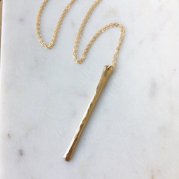 Hammered Flute Necklace - Token Jewelry Designs