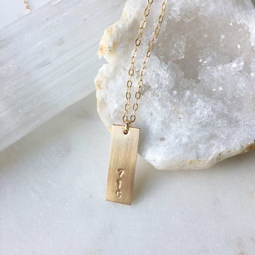 Area Code Necklace (Personalized) - Token Jewelry
