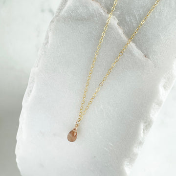 gold chain necklace gold fill sterling silver gemstone necklace imperial topaz