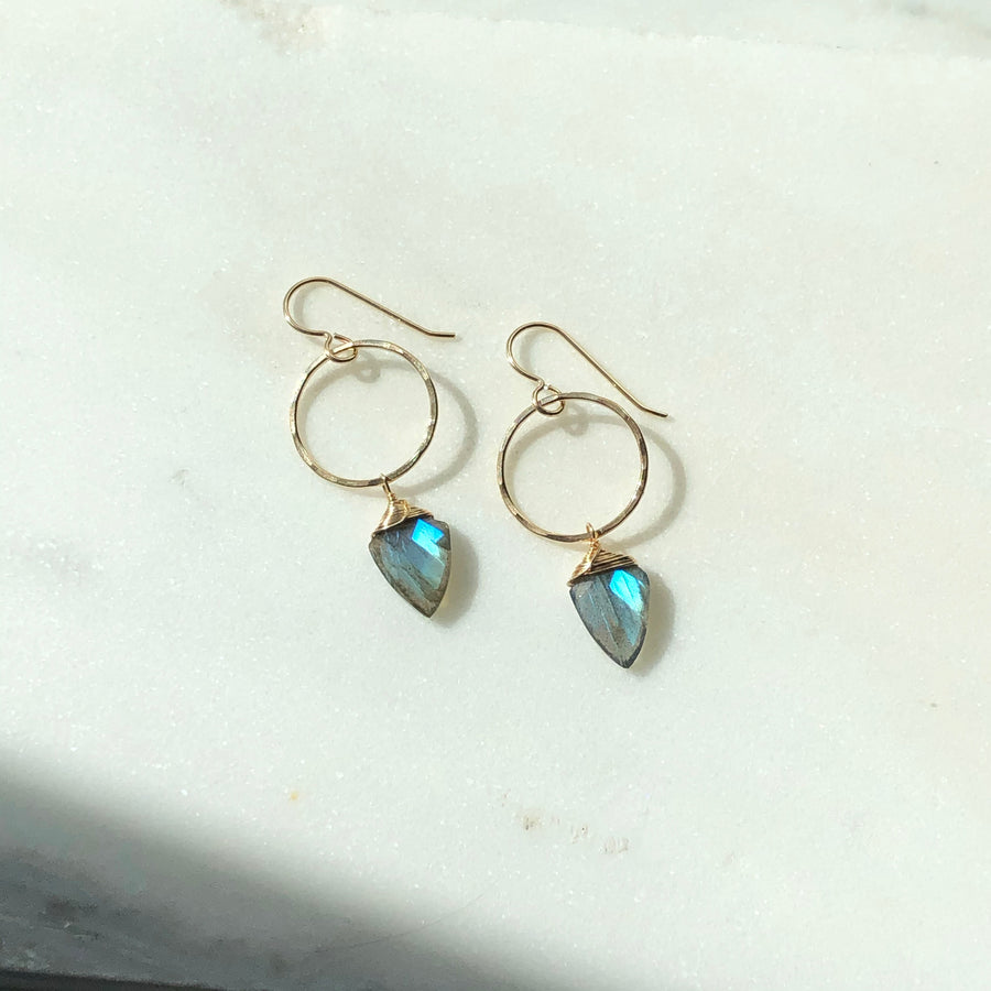 Labradorite Hoops - Token Jewelry Designs