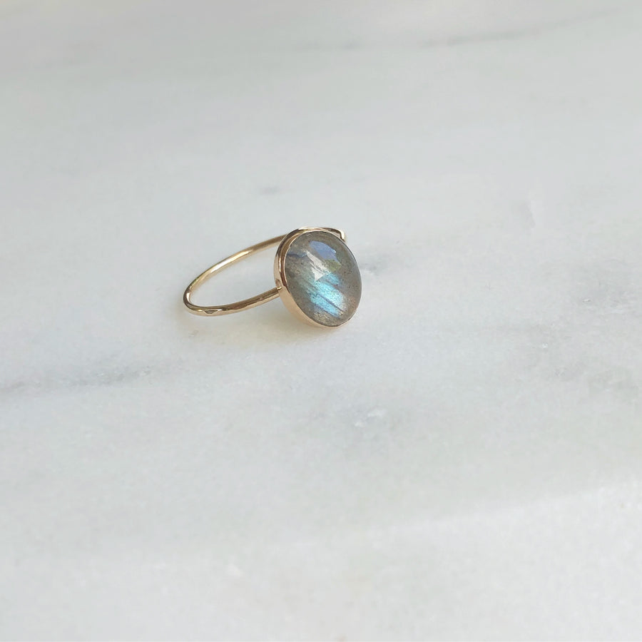 Labradorite Oval Ring - Token Jewelry Designs