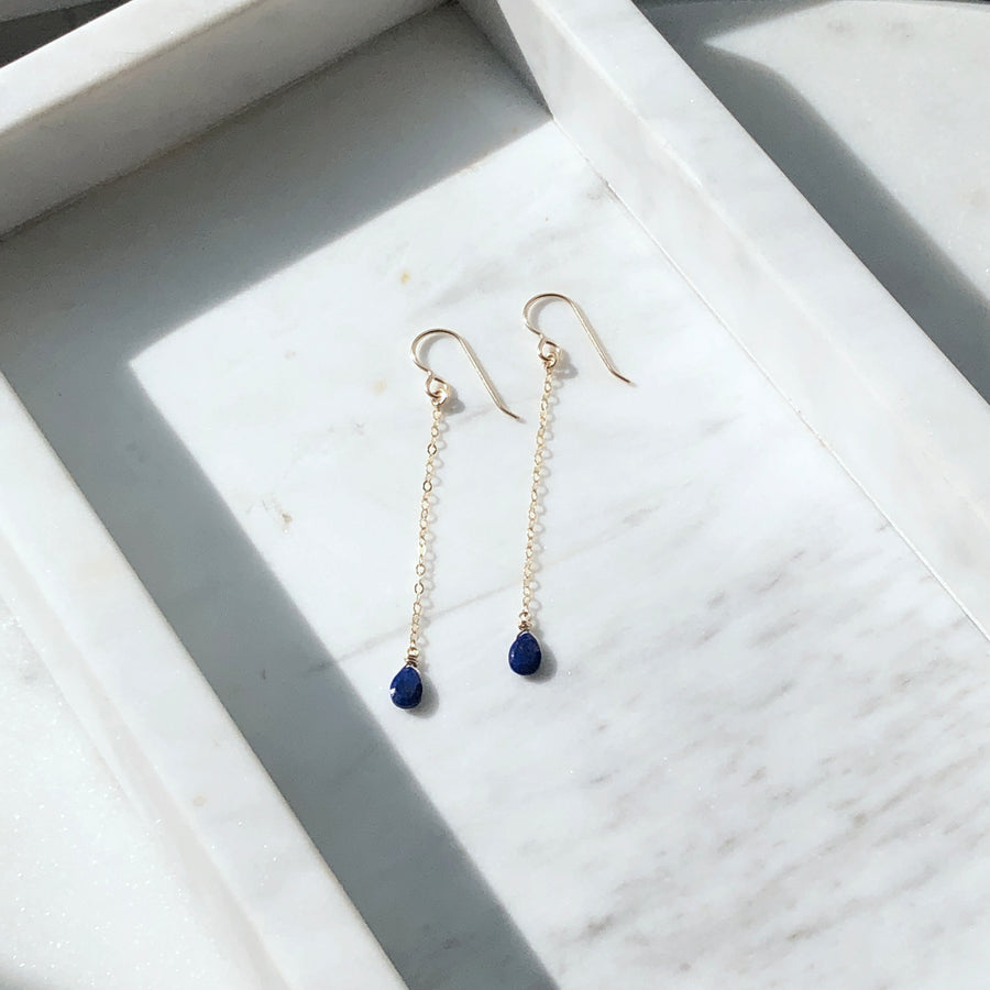Lapis Drops - Token Jewelry Designs