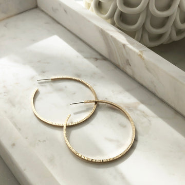Maeve Hoops - Token Jewelry