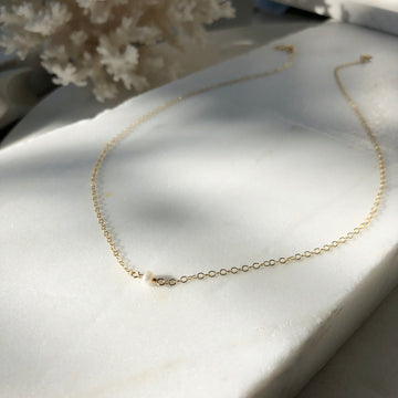 Mini Pearl Necklace - Token Jewelry Designs