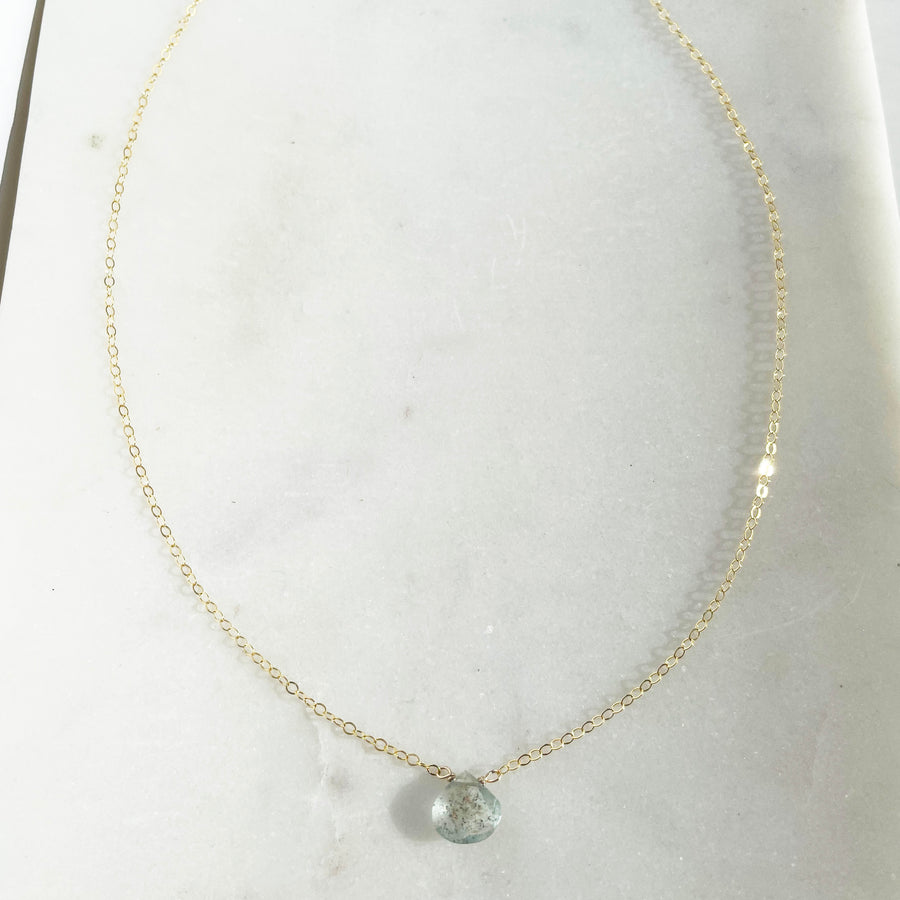 Moss Aquamarine Necklace - Token Jewelry