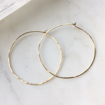Organic Hoops - Token Jewelry Designs