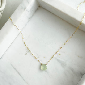 Prehnite Necklace - Token Jewelry