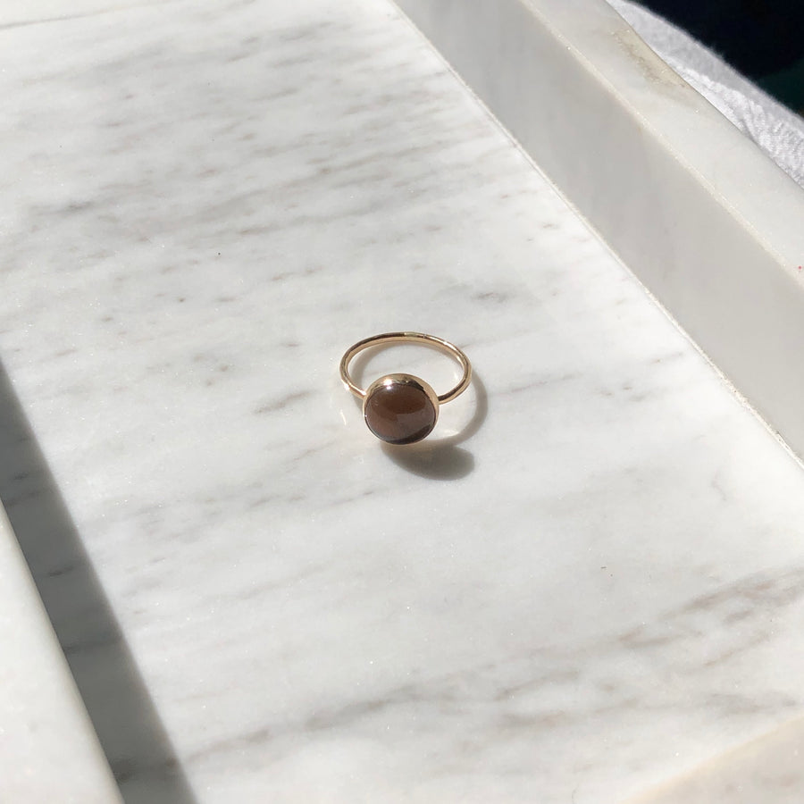 Smokey Quartz Ring - Token Jewelry Designs