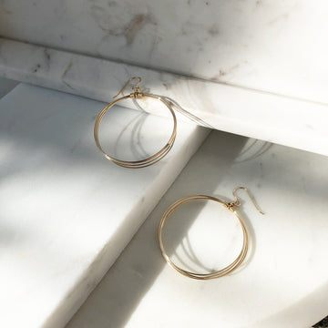 Spinning Circles Earrings - Token Jewelry