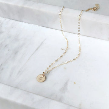 Mini Monogram Necklace - Token Jewelry Designs