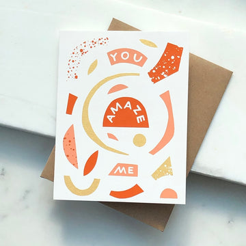 You Amaze Me Card - Token Jewelry
