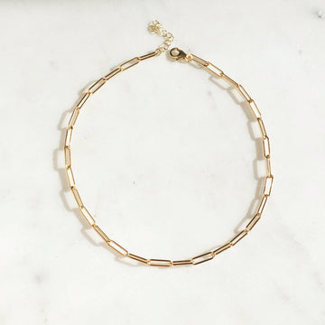 Chain Link Choker - Token Jewelry Designs