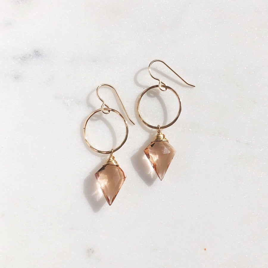 Champagne Quartz Drops - Token Jewelry Designs